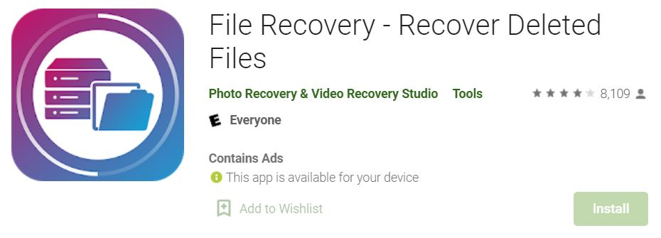 File Recovery – Recover Deleted Files